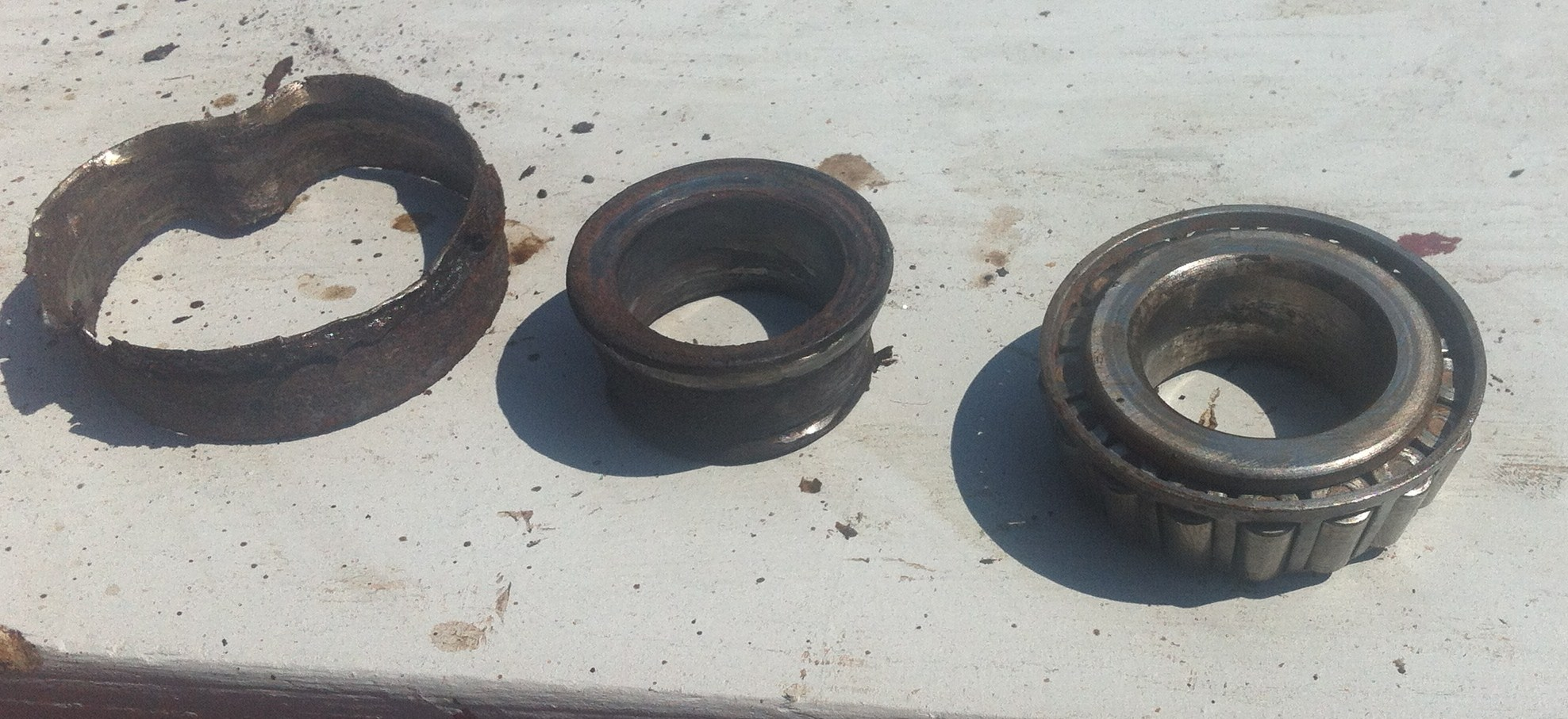 how to get rust off bearings